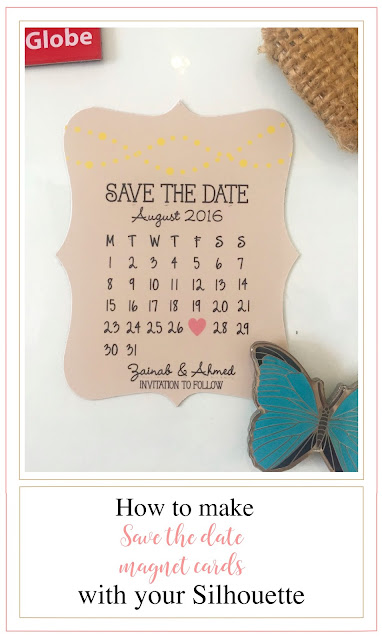silhouette uk magnetic save the date cards with free calendar file