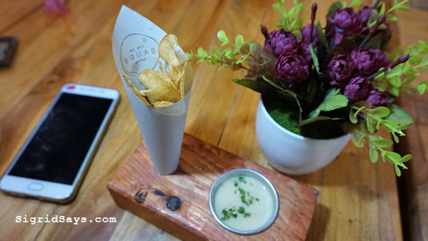 Squad Bistro - Bacolod restaurants - potato chips