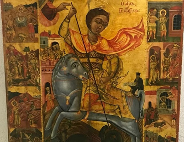 Looted Icon of St George returns to Cyprus