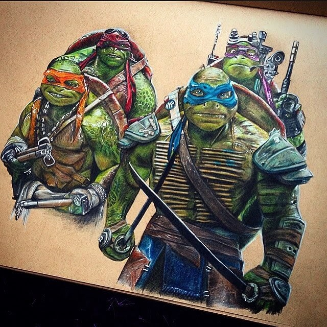06-Teenage-Mutant-Ninja-Turtles-TMNT-Chris-Superhero-and-Villain-Realistic-Pencil-Drawings-www-designstack-co