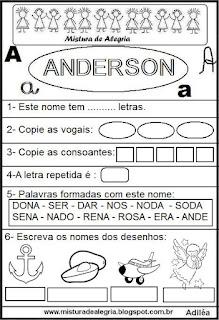 Brincando com o nome Anderson