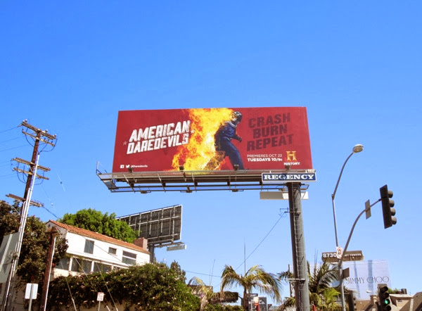 American Daredevils TV billboard Sunset Strip