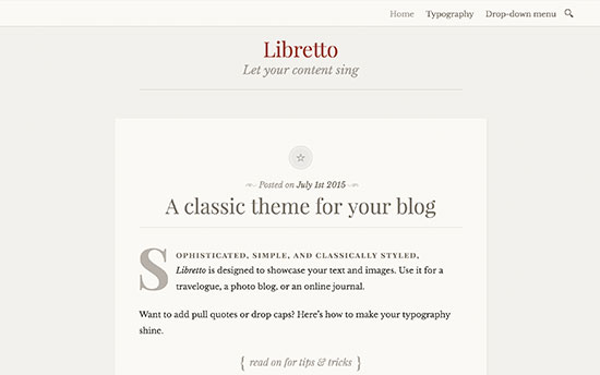 Libretto WP Theme