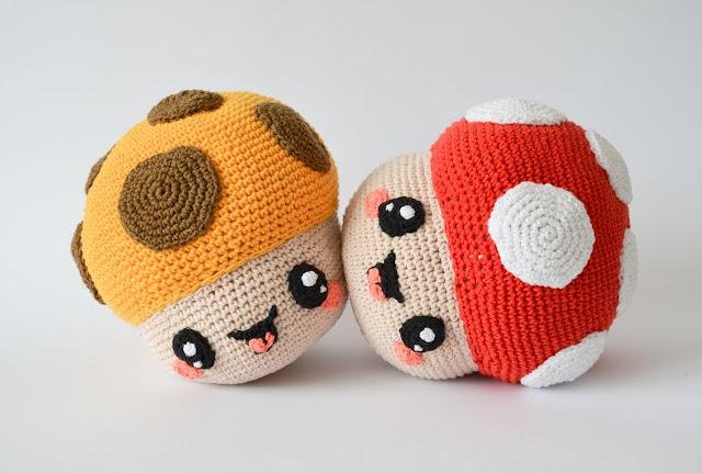 Krawka: Mushroom plant crochet pattern by Krawka
