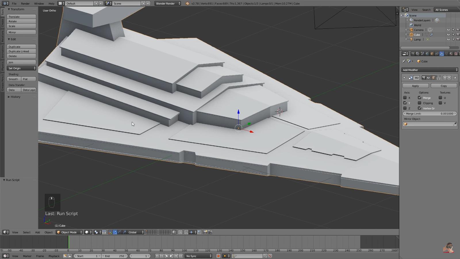 Star Destroyer Blender Tutorial | CG TUTORIAL