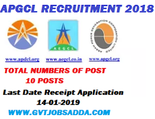 APGCL RECRUITMENT 2018
