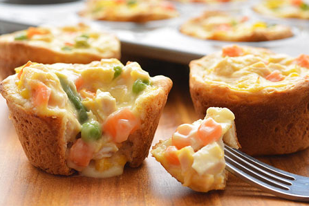 Mini Chicken Pot Pies #healthy #recipe