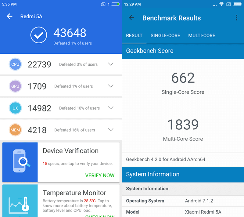 High benchmark scores for the price