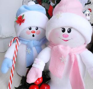 muñeco-nieve-botellas-recicladas