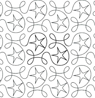 'Ginger Stars' digital pantograph by Hermione Agee