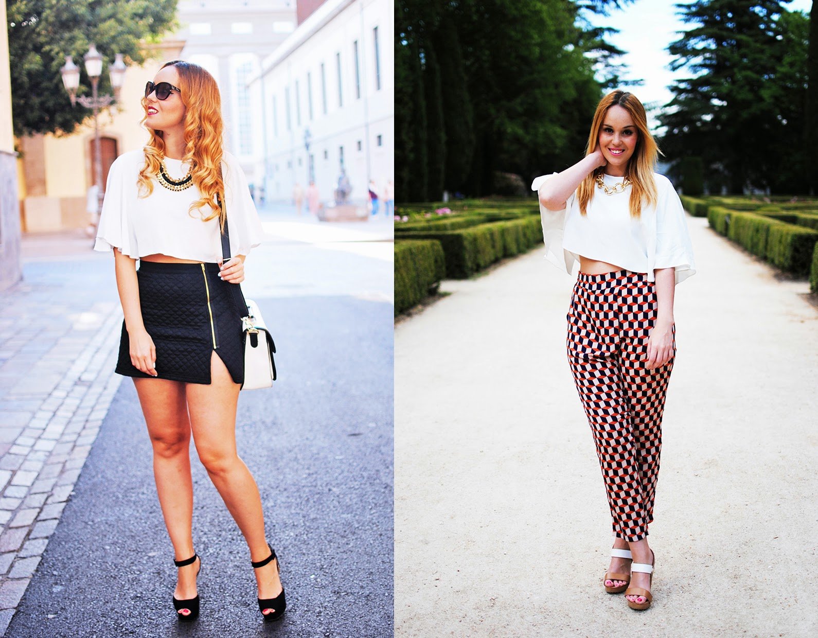 nery hdez, crop top, fashion inspiration, white top, blogueras de tenerife