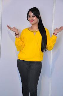 Anchor Ashwini Sharma Stills in Jeans at Love Cheyyala Vadda Movie Audio Launch  0017.jpg