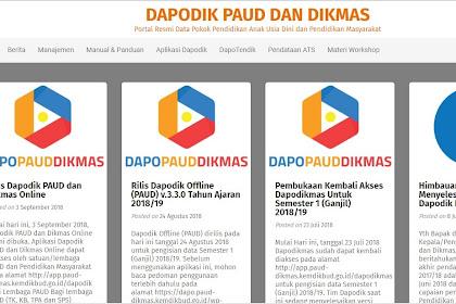 APLIKASI DAPODIK VERSI 3.3.0 TAHUN 2018 DENGAN PERUBAHANNYA TERBARU