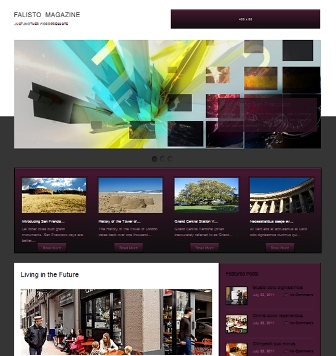 Free Falisto Magazine - Business Style Wordpress Theme
