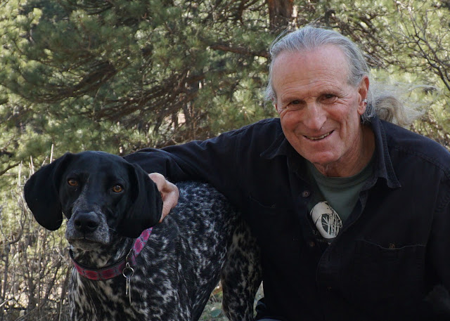 Dr. Marc Bekoff - seen here with dog Minnie - interviewed about his book, Canine Confidential