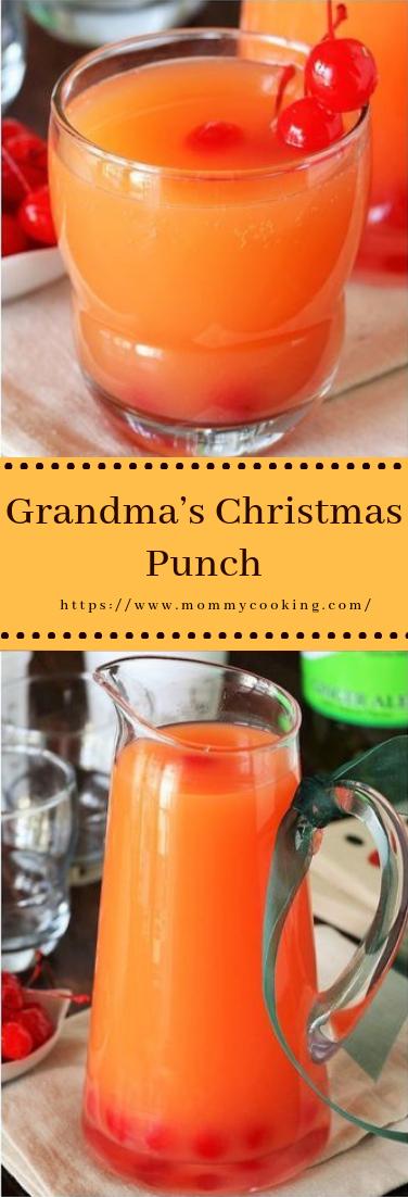 Grandma's Christmas Punch #drinks #recipe
