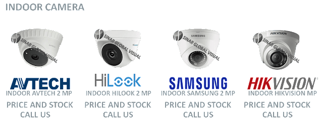 Katalog Promo Kamera CCTV Indoor HIKVISION, AVTECH, HILOOK, SAMSUNG, AHD, STEALTH