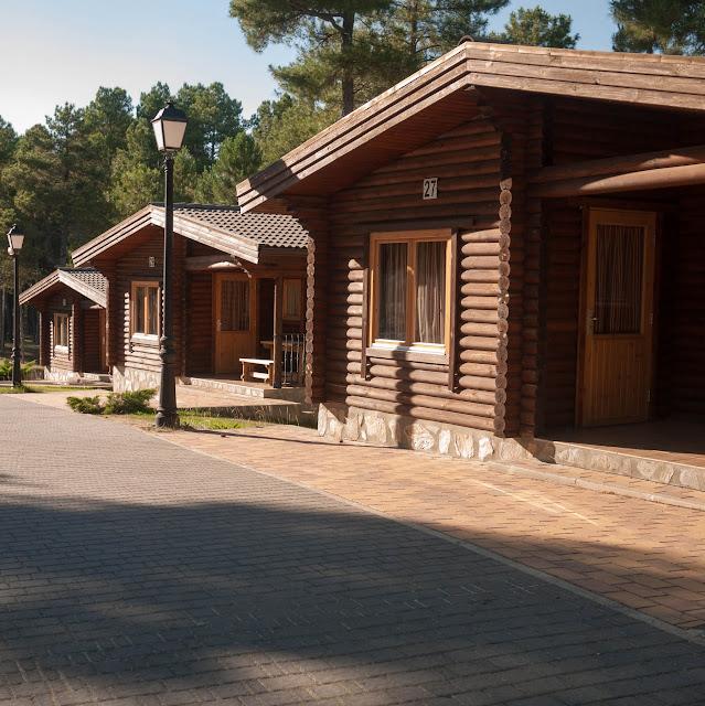 Cabañas de madera en el Camping Cuenca