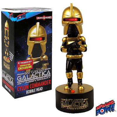 San Diego Comic-Con 2013 Exclusive Battlestar Galactica Gold Cylon Commander Bobble Head by Bif Bang Pow