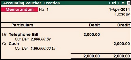 Non accounting voucher in tally tally education reversing journal voucher it is just like journal voucher all transactions related with assets sales purchase and adjustment entries any suspense altavistaventures Images