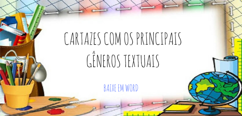 Cartazes Com Os Principais Generos Textuais So Escola
