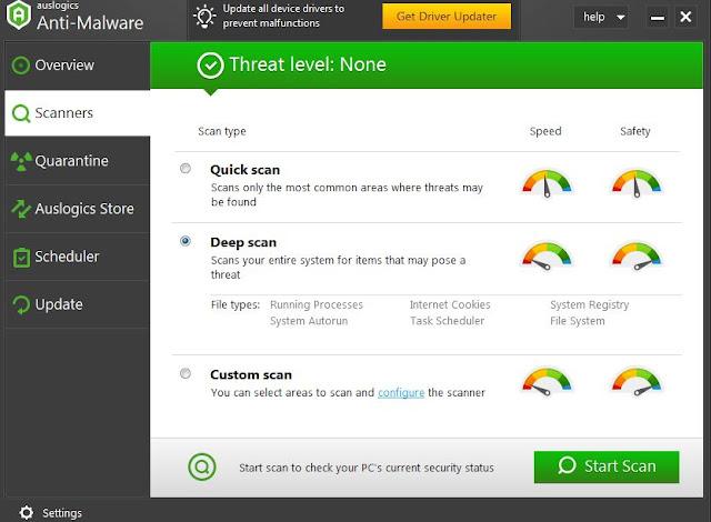 احمى جهازك من البرامج الضارة والخبيثة مع برنامج Auslogics Anti-Malware
