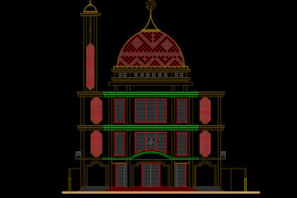 Download Gambar Kerja Masjid Dwg Gratis