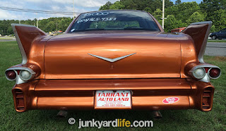 Custom Chevroelt Lumina rear view with Cadillac fins from 1958.