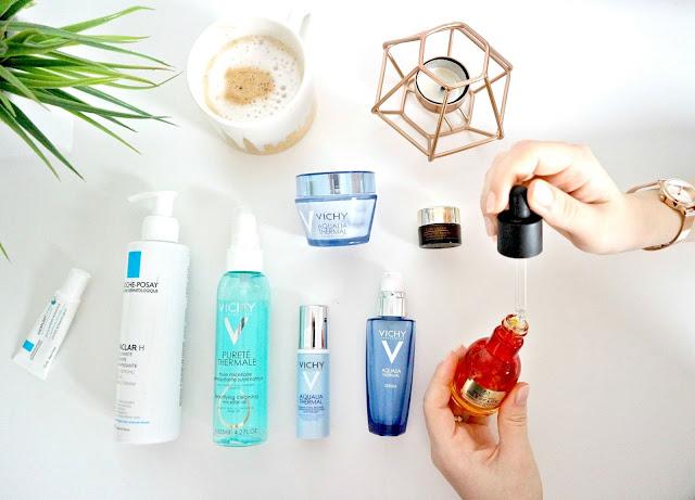 effective skincare for dry skin flatlay