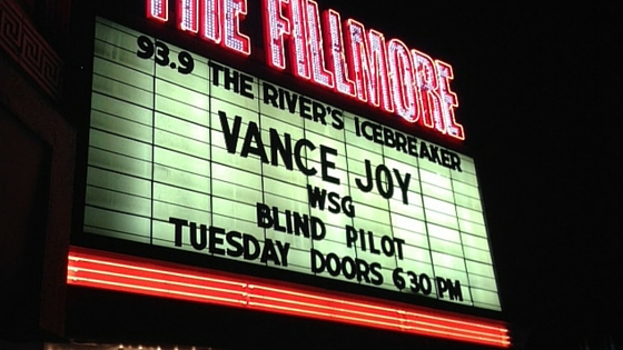 Fillmore Vance Joy
