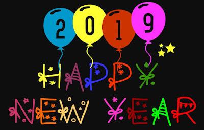Gambar Ucapan Selamat Tahun Baru 2019 Balon Lucu Happy New Year