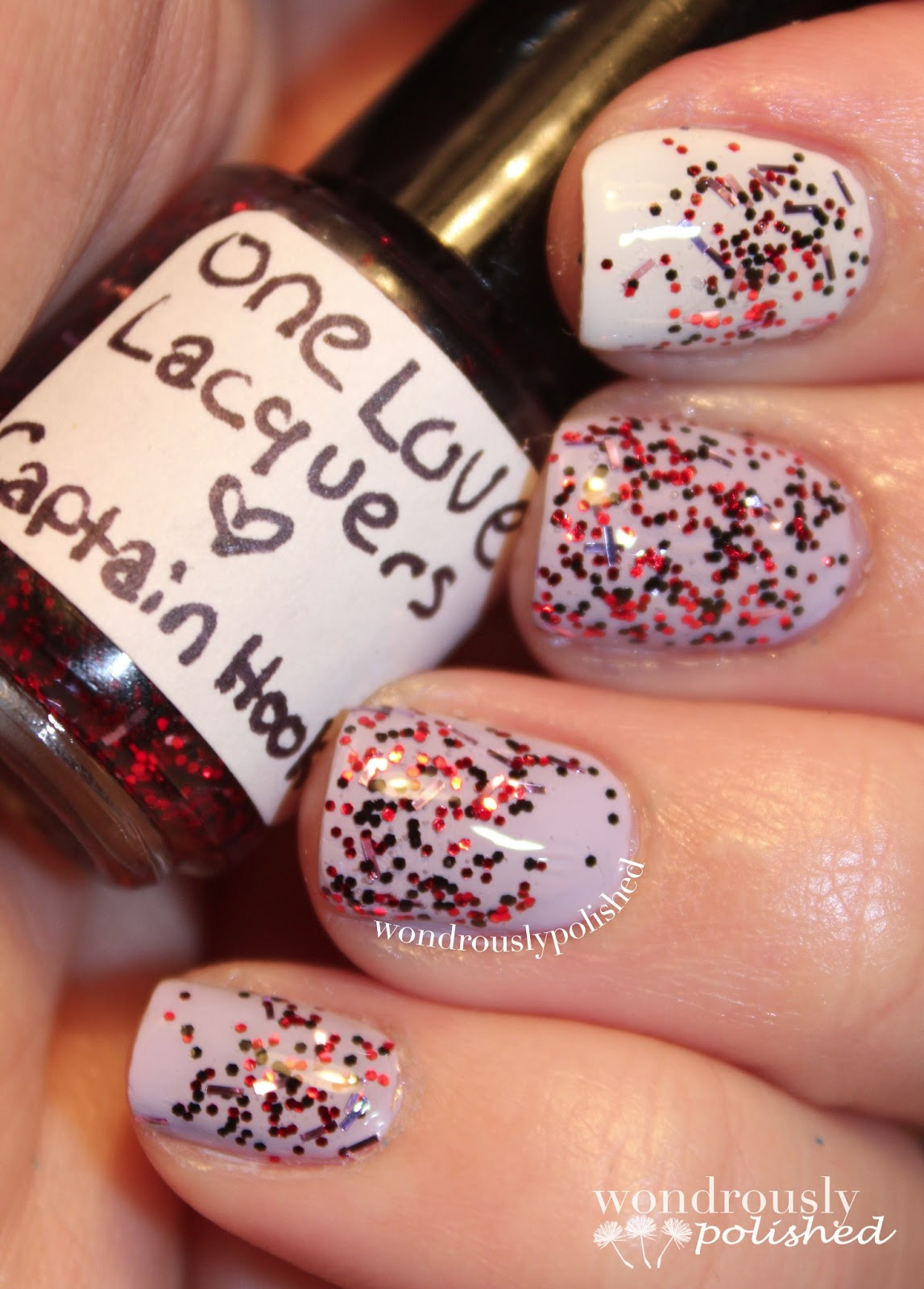 Wondrously Polished April Nail Art Challenge: Wondrously Polished: One Love Lacquers Review