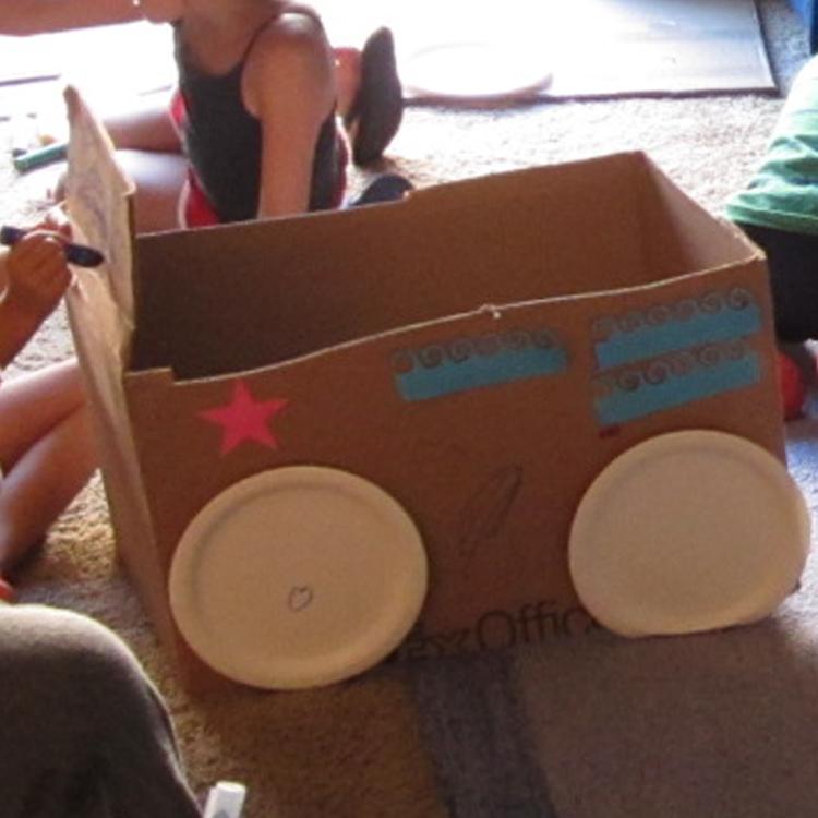 Cardboard Box Drive In Movie Playdate   Midnight Crafting