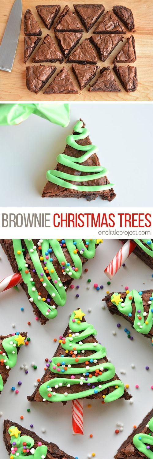 Easy Christmas Tree Brownies