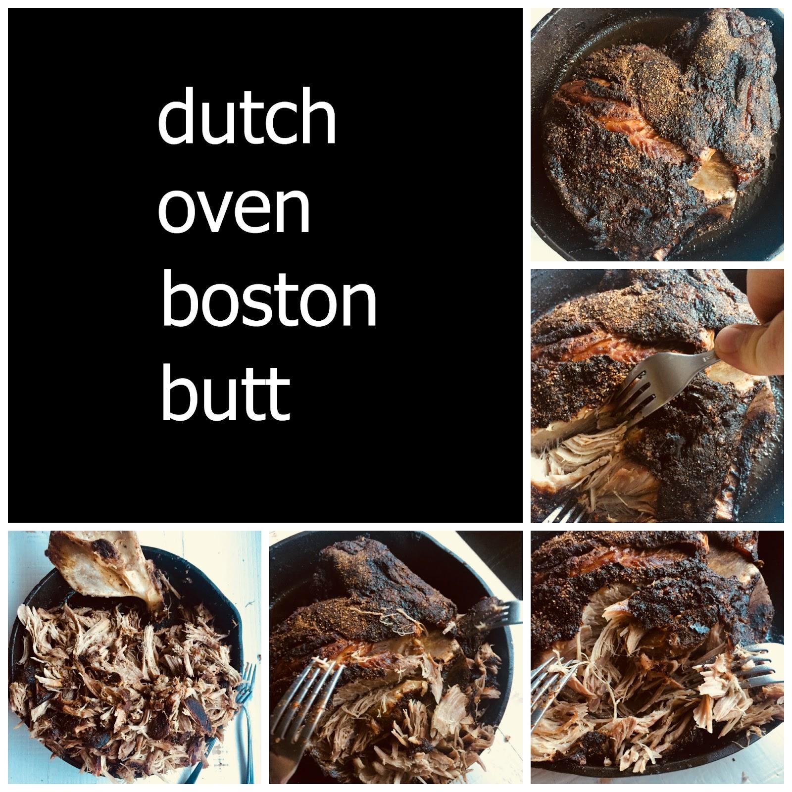 Dutch Oven Boston Butt BBQ Recipe