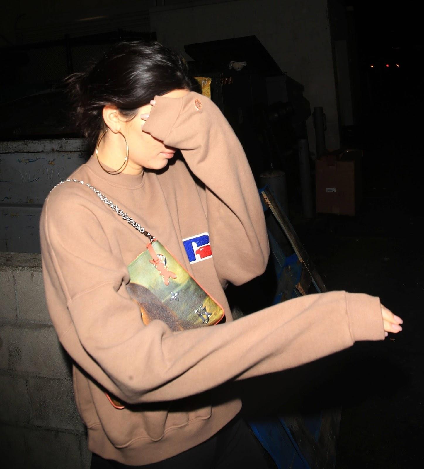Kendall Jenner Leaving Mastro's restaurant