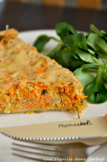 quiche de carottes au thon