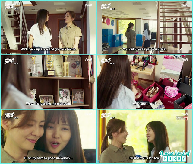 Hyun ji with her mother at her home  - Let's Fight Ghost - Episode 13 Review