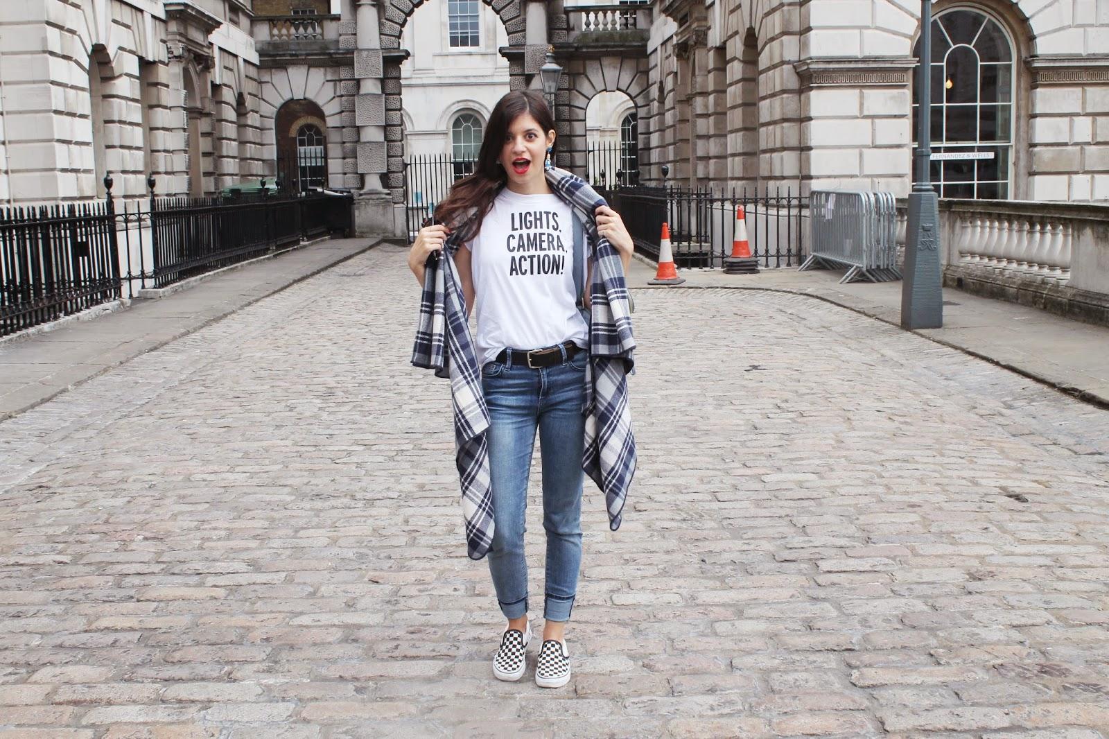 street style, london fashion week, LFW, somerset house, blogger, london, accessorize leather, kate spade