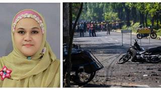 Teror Bom Disebut Settingan, Ibu Guru Ini Diciduk Aparat