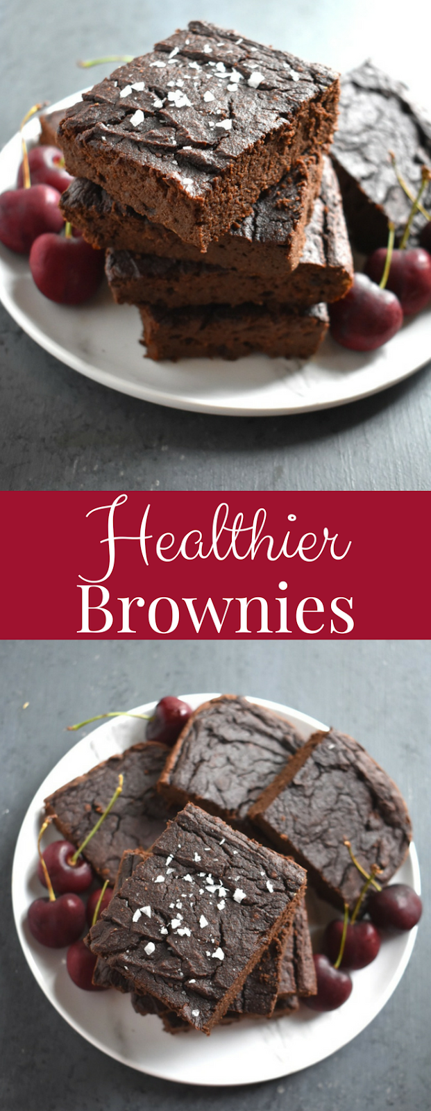Healthier Fudgy Brownies are dense and rich, naturally gluten-free, grain-free and are made with pumpkin for a comforting and delicious treat! www.nutritionistreviews.com