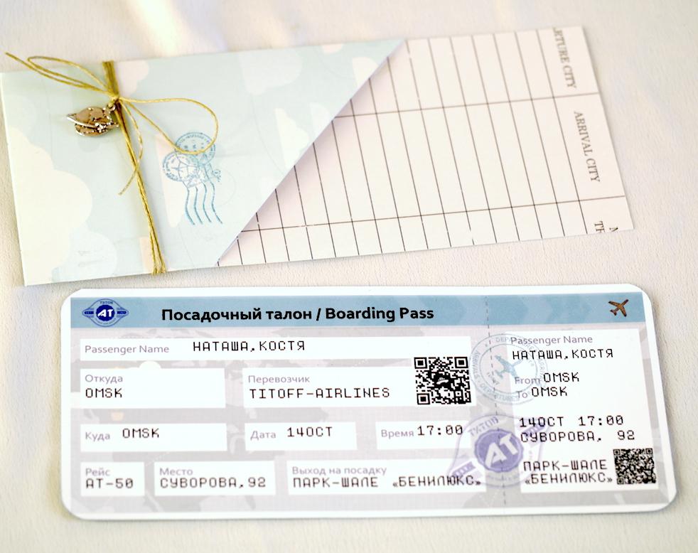 Открытка, билет на поезд открытка