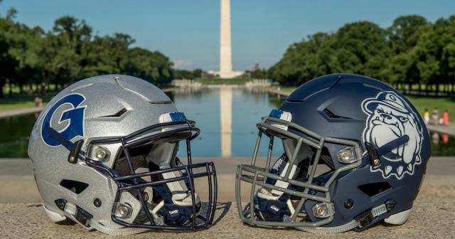 Georgetown football helmets 2016