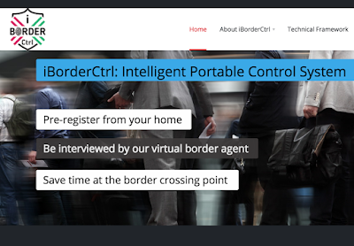 Screen capture from iBorderCtrl home page