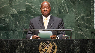 President Yoweri Museveni,  of Uganda