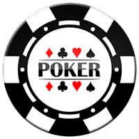 black poker chip