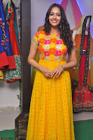 Pujitha in Yellow Ethnic Salawr Suit Stunning Beauty Darshakudu Movie actress Pujitha at a saree store Launch ~ Celebrities Galleries 023.jpg