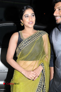 Actress Regina Stills in Green Saree at Vivaha Bhojanambu Restaurant Launch  0002.JPG