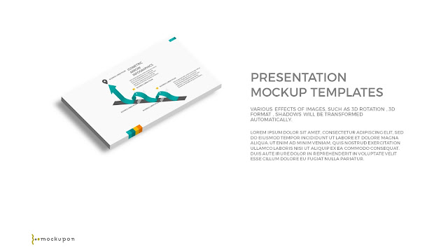 Free PowerPoint Template with 3D Layered  1 Screen Mockups
