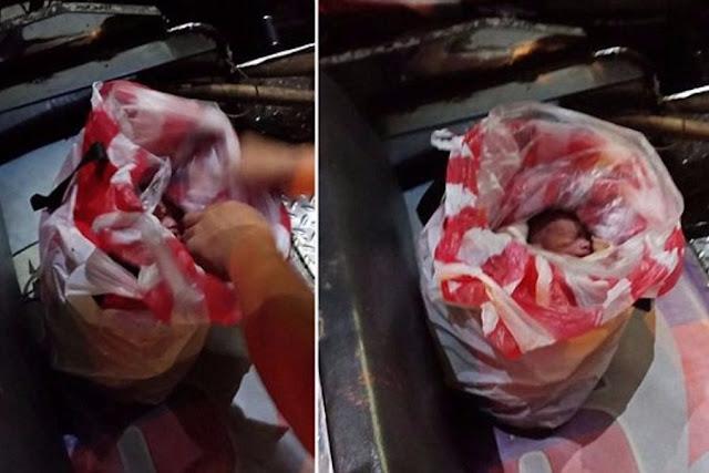 Περαστικοί έσωσαν μωρό που εγκαταλείφθηκε τυλιγμένο σε σακούλες